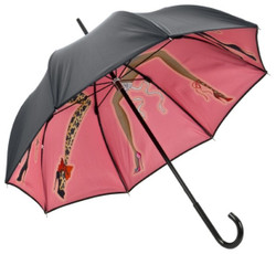 Chantal Thomass Designer Ladies umbrella with cancan dancing with the ladies - elegant and extravagant - Made in Paris