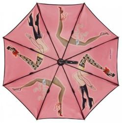 Chantal Thomass Designer Ladies umbrella with cancan dancing with the ladies - elegant and extravagant - Made in Paris Bild 2