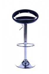 Casa Padrino designer bar stool black ABS plastic, adjustable height, swivel - Barstool