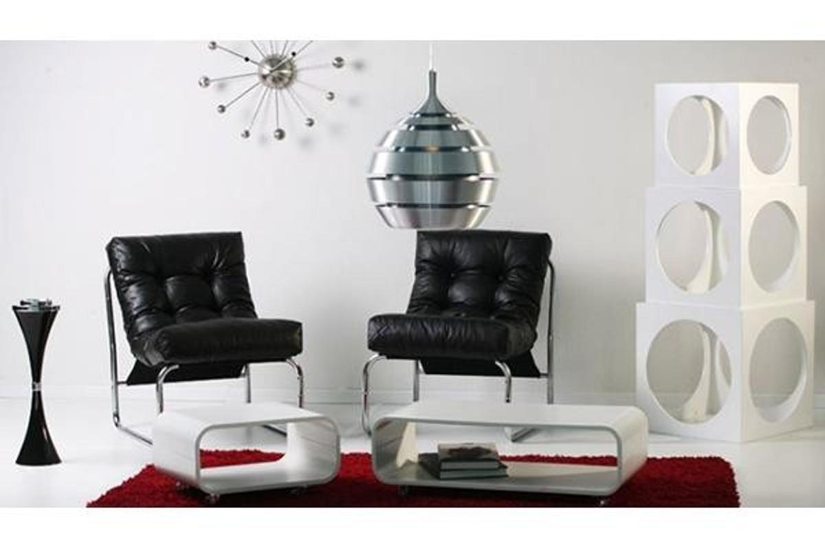 Designer Salon Stuhl Schwarz Lederoptik, sehr komfortabler Sitz ...