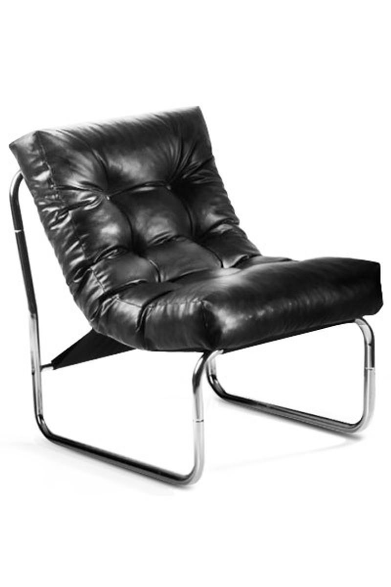 Casa Padrino Designer Salon Chair Black Leather Look   Modern ...
