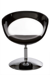 Casa Padrino black designer chair, swivel - Contemporary chair