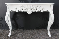 Baroque Console Table White - Women's Desk - Secretary console