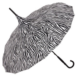 MySchirm designer umbrella pagoda in Zebra Look Model Paris - Art Nouveau design - Elegant Umbrella
