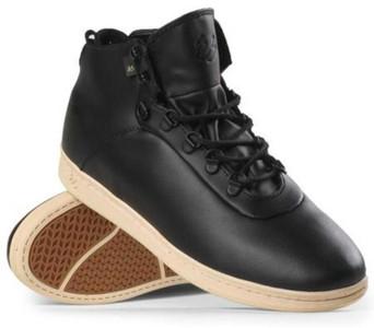 ES Footwear Skateboard Shoes Leland LX Black/Tan – Bild 1