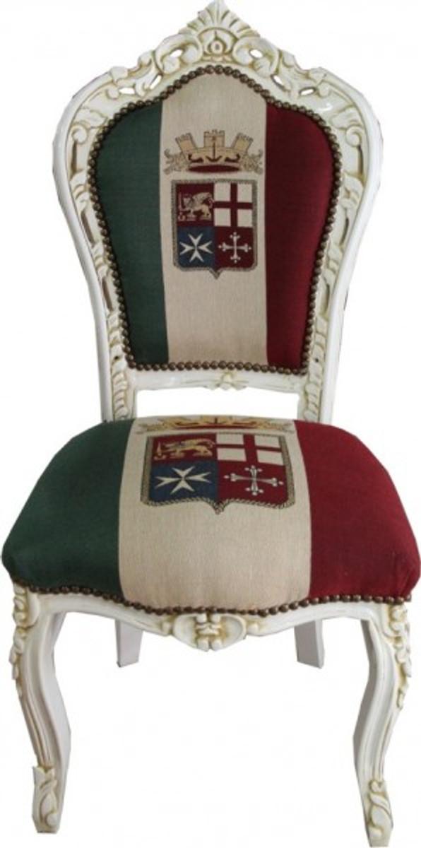 Casa Padrino Barock Esszimmer Stuhl Italien / Creme Antik Stil 1