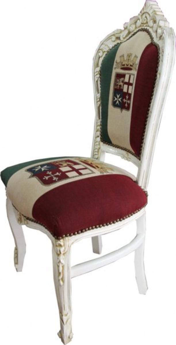 Casa Padrino Barock Esszimmer Stuhl Italien / Creme Antik Stil 2