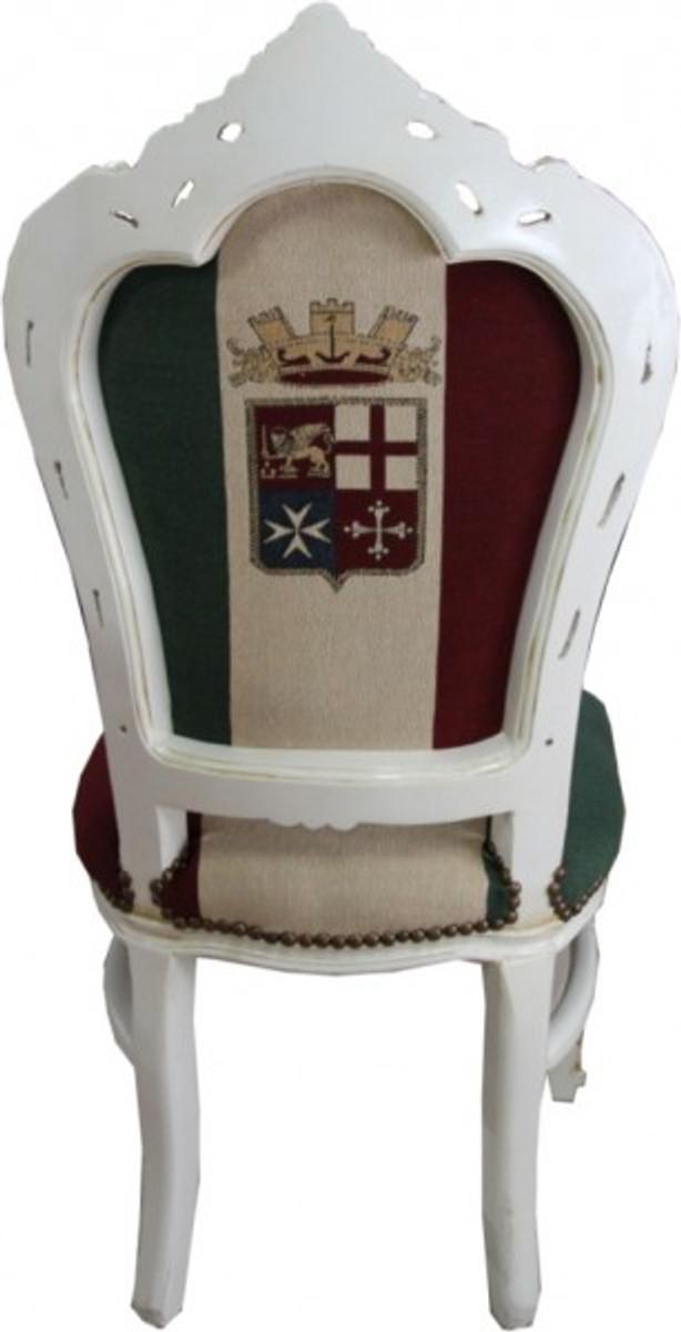 Casa Padrino Barock Esszimmer Stuhl Italien / Creme Antik Stil 3