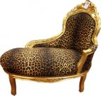 Barock Kinder Chaiselongue Leopard/Gold - Tron Barock Möbel