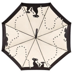 MySchirm designer umbrella with Black Cats in elegant black-Elegant Umbrella - Luxury Design - Automatic Umbrella Bild 2