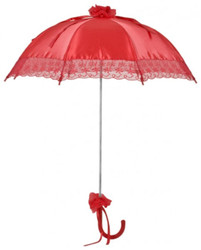 MySchirm designer bridal wedding umbrella umbrella of red satin - Deco screen