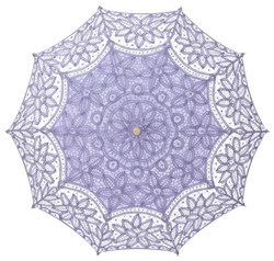 MySchirm Deco designer umbrella wedding umbrella with cotton lace in lilac - romantic Deco screen Bild 2