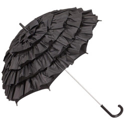 MySchirm Deco designer umbrella wedding umbrella in black elegant umbrella for many occasions - romantic Deco screen