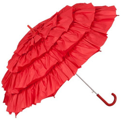 MySchirm designer elegant umbrella Automatic umbrella for many occasions in red - romantic Deco screen