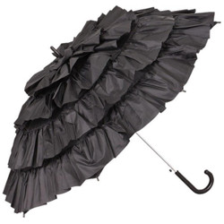 MySchirm designer elegant umbrella Automatic umbrella for many occasions in black - romantic Deco screen