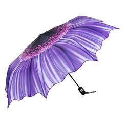 MySchirm designer umbrella with floral motif in purple - Elegant Umbrella - Luxury Design - Umbrella