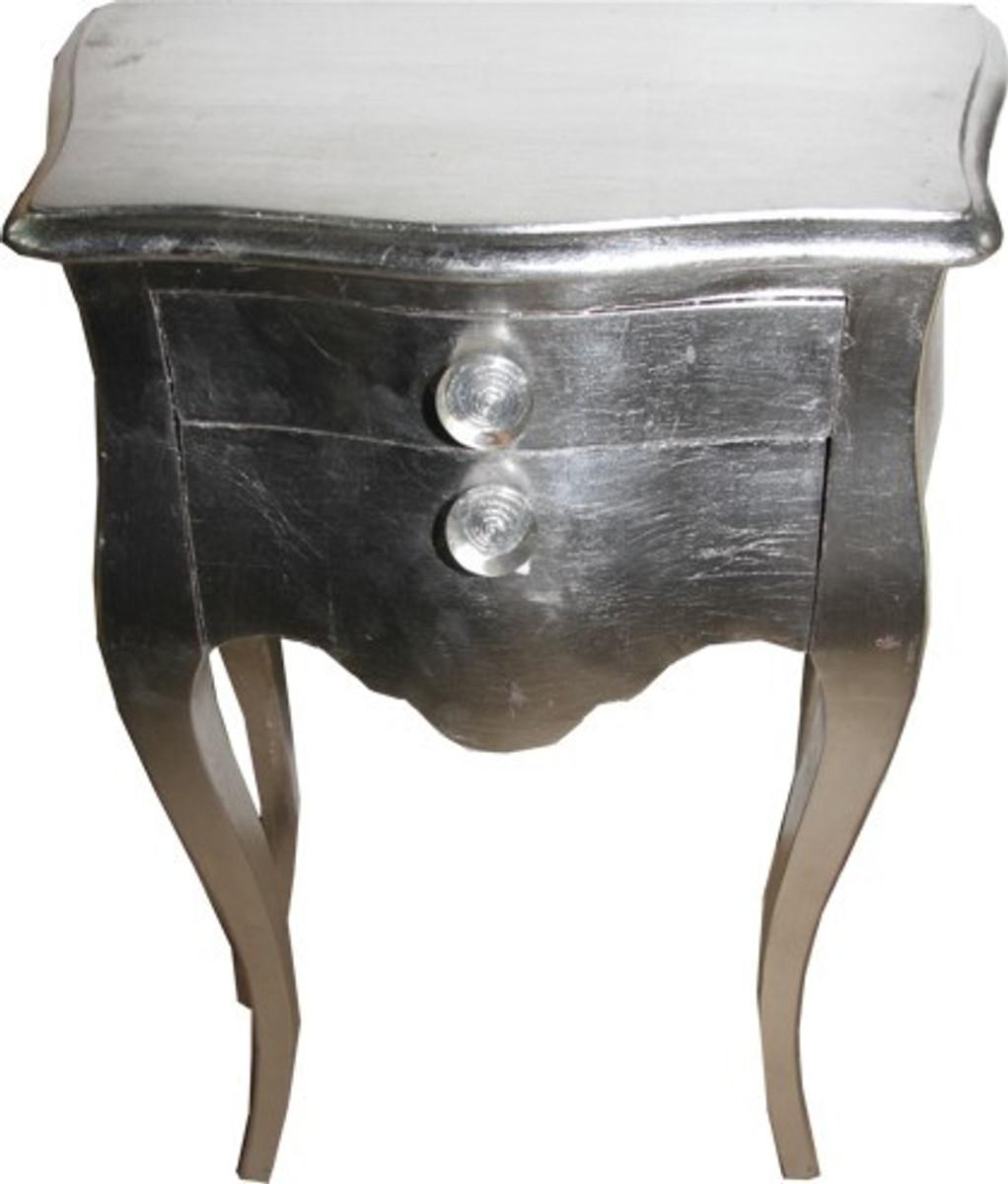 casa padrino barock kommode silber 72 x 50 x 30 cm nachtschr nkchen nachtschrank kommoden. Black Bedroom Furniture Sets. Home Design Ideas