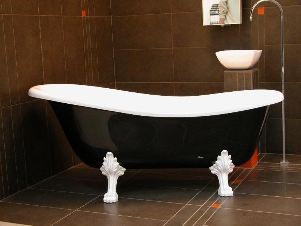 Détaché de bain de luxe Art Nouveau Roma Noir / Blanc / Blanc 1470mm ...