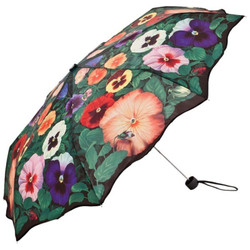 "MySchirm designer umbrella with ""pansy"" - Elegant Umbrella - Luxury Design - Umbrella"