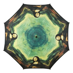"Designer Umbrella Leonardo da Vinci's ""Mona Lisa"" motif umbrella - Elegant Umbrella - Luxury Design - Automatic Umbrella Bild 2"
