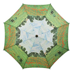 MySchirm designer umbrella with Poppy Field Claude Monet - Elegant Umbrella - Luxury Design - Automatic Umbrella Bild 2