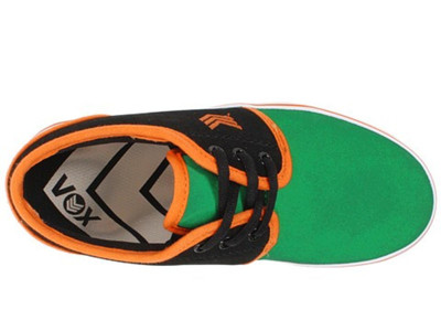 Vox Skateboard Kids Schuhe Slacker Green/Black/Orange – Bild 3