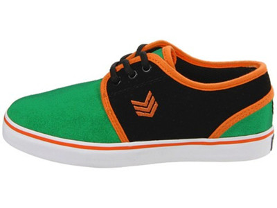 Vox Skateboard Kids Schuhe Slacker Green/Black/Orange – Bild 1