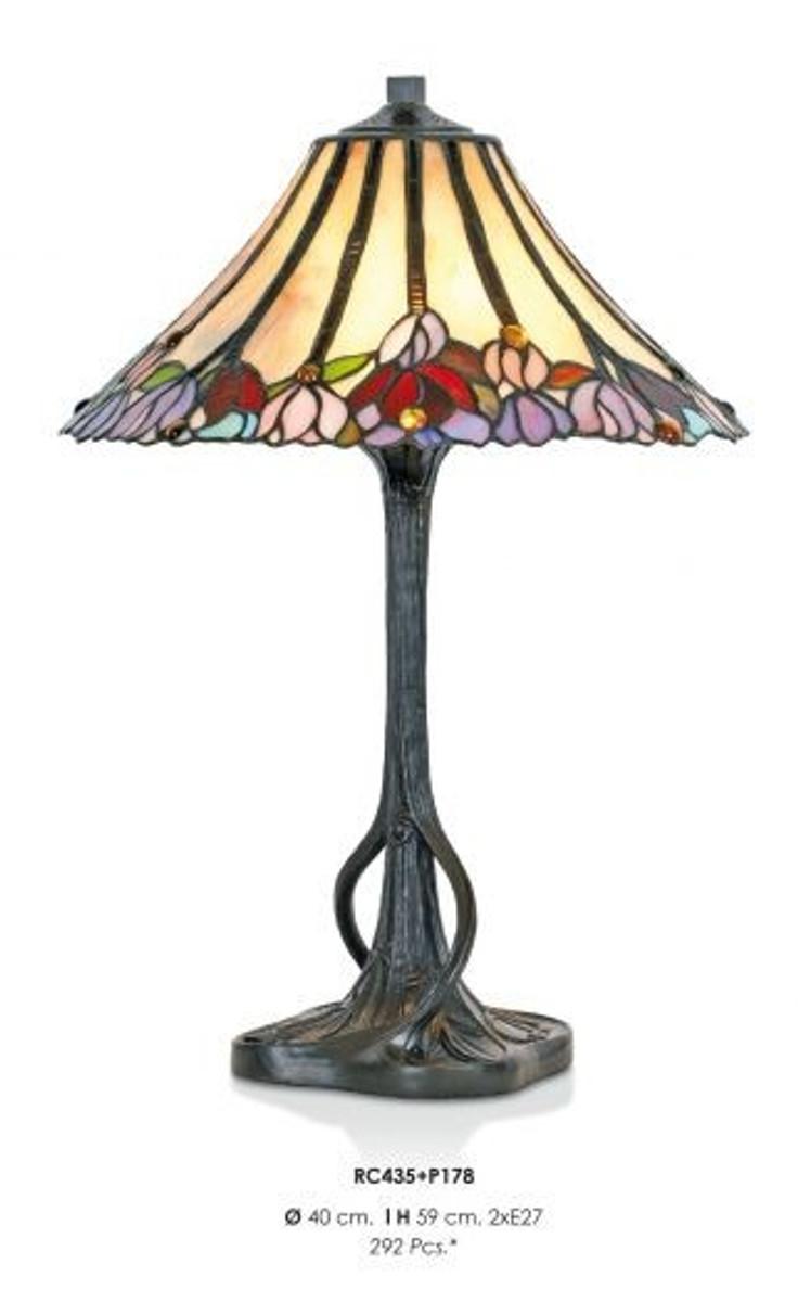 handgefertigte tiffany hockerleuchte tischleuchte h he 59 cm durchmesser 40 cm leuchte lampe. Black Bedroom Furniture Sets. Home Design Ideas