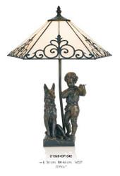 Handgefertigte Tiffany Dekoleuchte Figurenleuchte Höhe 46 cm, Länge 36 cm - Leuchte Lampe - Statuette