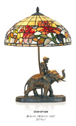Handmade tiffany figure lamp decorative lamp height 50 cm, diameter 36 cm - light bulb - Statuette