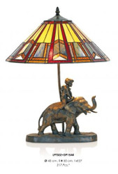 Handmade tiffany figure lamp decorative lamp height 50 cm, diameter 40 cm - light bulb - Statuette