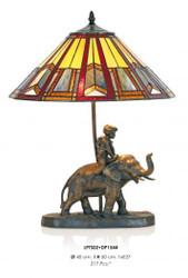 Handgefertigte Tiffany Dekoleuchte Figurenleuchte Höhe 50 cm, Durchmesser 40 cm - Leuchte Lampe - Statuette