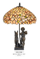 Handmade tiffany figure lamp decorative lamp height 46 cm, diameter 30 cm - light bulb - Statuette