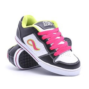 Adio Skateboard shoes Betsey Black/White/Lime Sneakers Shoes – Bild 1