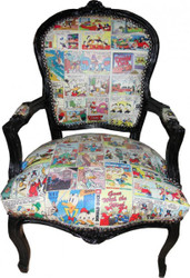Casa Padrino comic Mod2 Baroque Salon Chair - Limited Edition