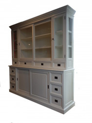 Big Shabby Chic cottage style wardrobe with 4 doors and 10 drawers of Casa Padrino - buffet cabinet - cabinet room