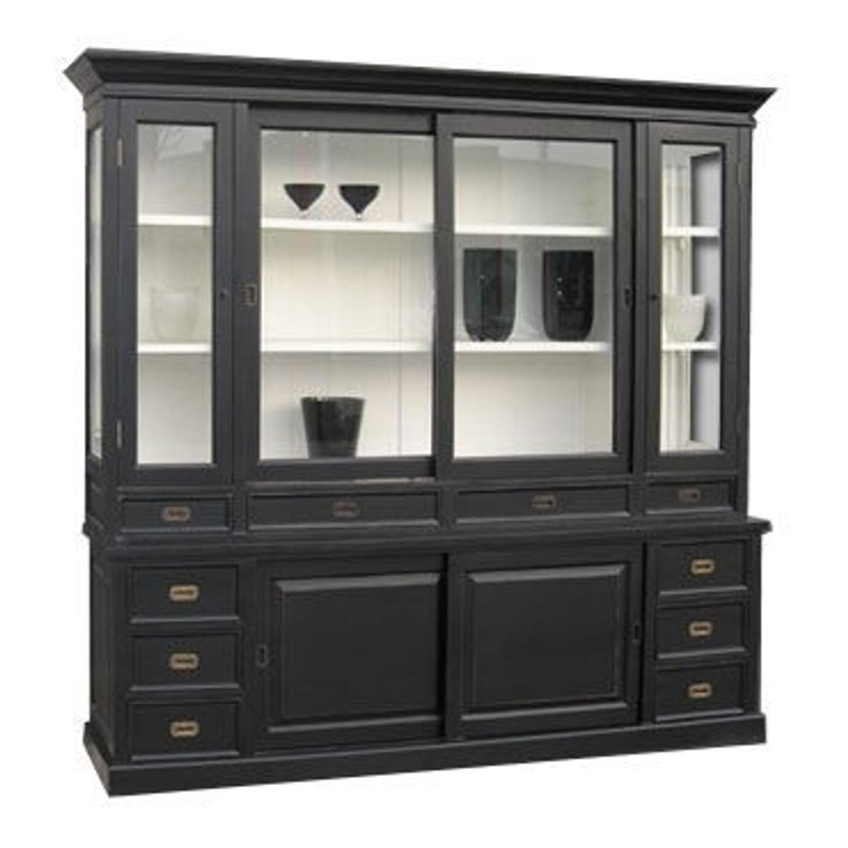 gro er shabby chic landhaus stil schrank mit 5 t ren und 10 schubladen buffetschrank schrank. Black Bedroom Furniture Sets. Home Design Ideas