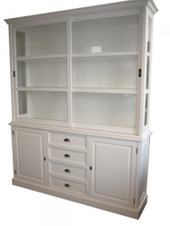Large Shabby chic country house style cabinet with 2 doors and 4 drawers - buffet cabinet - wardrobe dining room