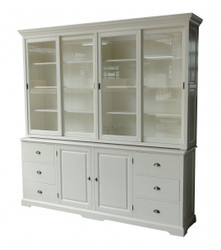 Casa Padrino Big Shabby Chic cottage style wardrobe with 4 doors and 6 drawers - buffet cabinet - cabinet room