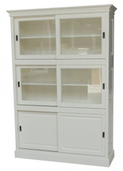 Big Shabby Chic cottage style cabinet with 3 doors - buffet cabinet - cabinet room - sliding closet