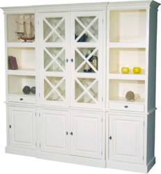 Large Shabby Chic country house style cabinet with 4 doors and 2 drawers - buffet cabinet - wardrobe dining room