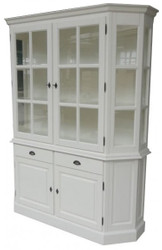 Large Shabby chic country house style cabinet with 2 doors and 2 drawers - buffet cabinet - wardrobe dining room