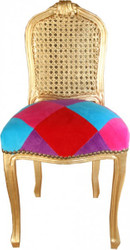 Casa Padrino Ladys chair Colored Diamonds / Gold - Limited Edition
