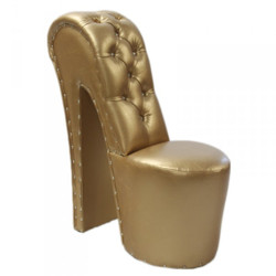 Modern and very elegant high heel chair with decorative stones Gold Luxury Design - Designer armchairs - Club Furniture