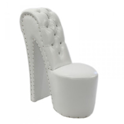 Modern and very elegant high heel chair with decorative stones White Luxury Design - Designer armchairs - Club Furniture