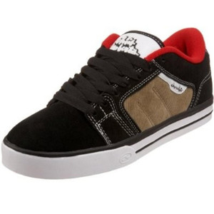Adio Crane Skate Shoes Kids Black / White / Tan