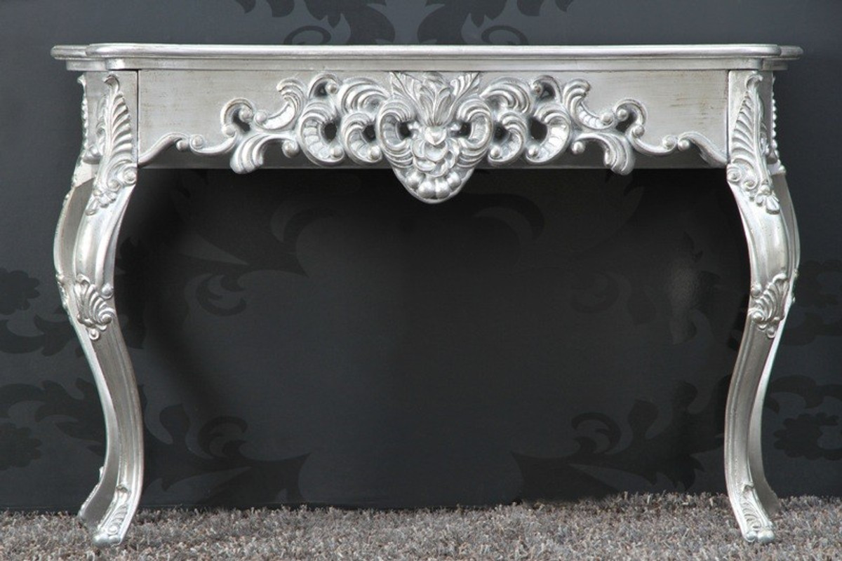 Baroque Console Table Silver Women S Desk Secretary Console