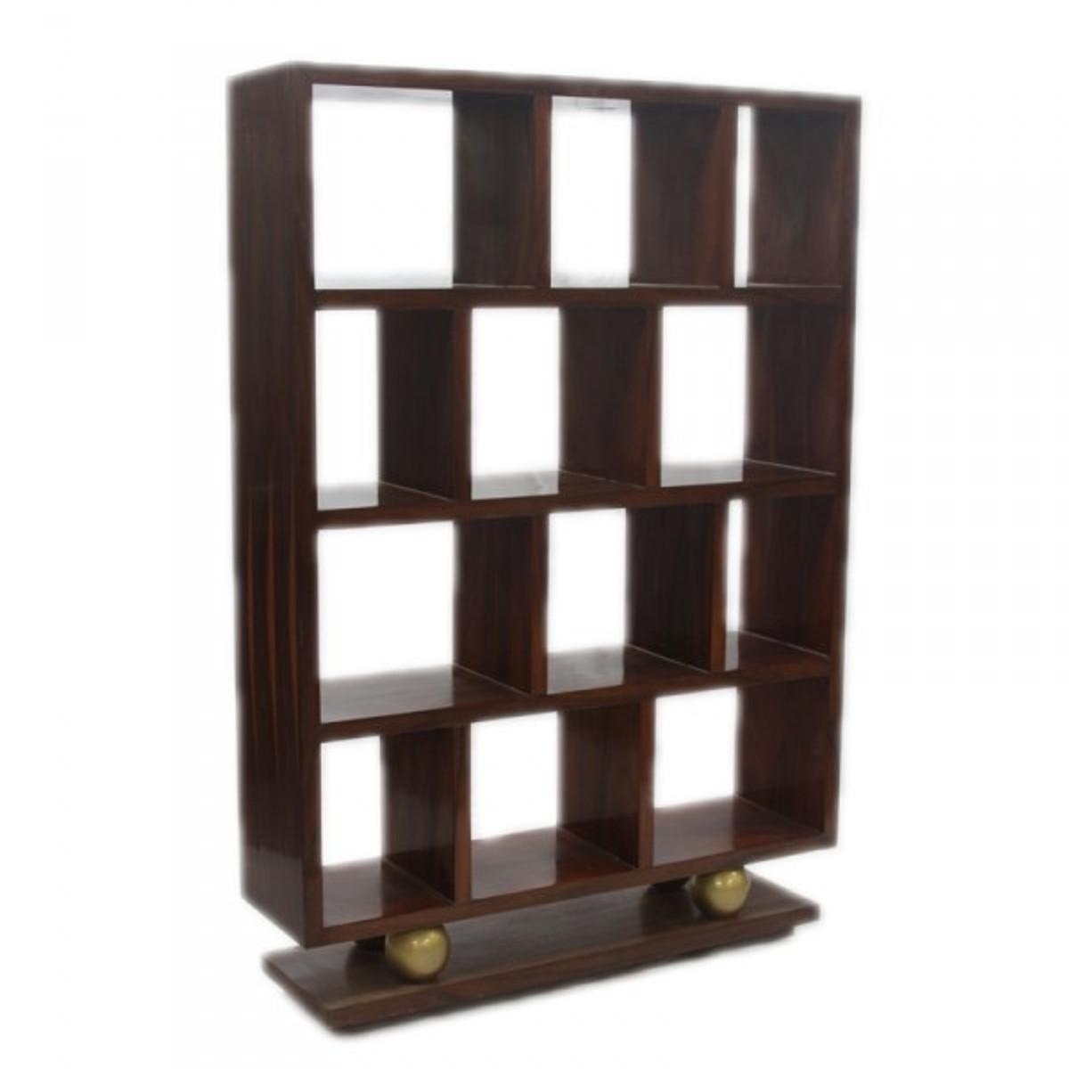 Bücherregal braun  Designer Bücherregal im Barockstil Model Mahagoni Braun Höhe: 160cm ...