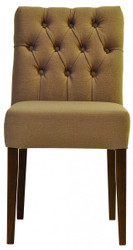 Casa Padrino Designer Dining Chair Model EF 283 Khaki / Brown - Hotel Facilities - Buchholz - Chesterfield Style