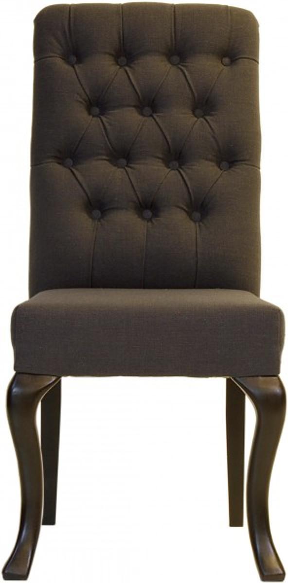 Casa padrino designer esszimmer stuhl modef 227 dunkelgrau for Esszimmer chesterfield
